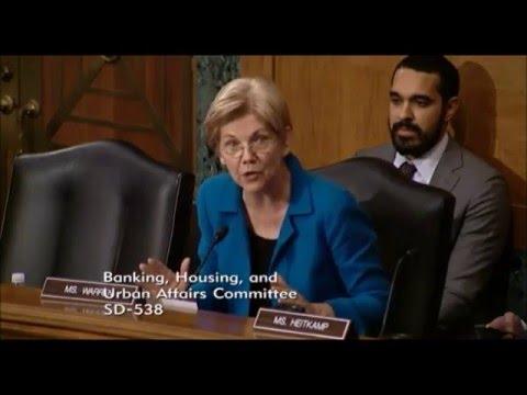Elizabeth Warren Questions Fed Chair Yellen on Living Wills for Big Banks