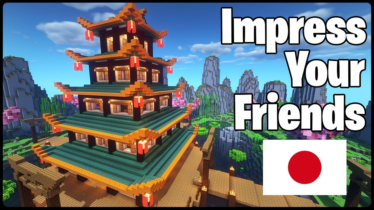 Impress Your Friends With This Japanese Temple|Minecraft Tutorial