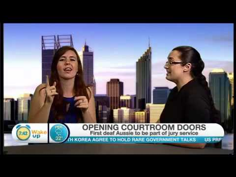 FULL VERSION - Drisana's interview with Channel 10's Wake Up Program about Jury Duty