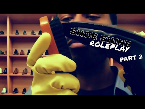 👞 Shoe Shine Roleplay Part 2 [ASMR] with SHOE STORE | Shoe Cleaning, Shoe Brushing & Cloth Sounds 👞