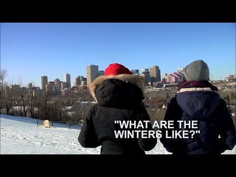 What are the winters like in Edmonton, Alberta, Canada?