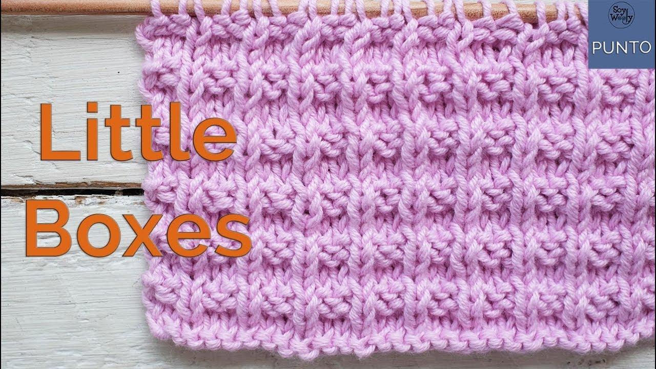 Punto Little Boxes Reversible Para Tejer Mantas Cuellos Y Bufandas