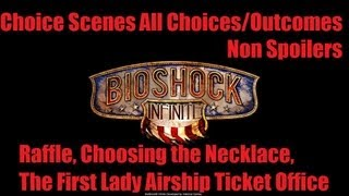 Bioshock Infinite Choice Scenes All Choices / Decisions / Outcomes Raffle, Necklace, Airship Tickets thumbnail