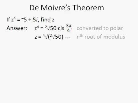 man vs maths complex 2 de moivre 39 s theorem youtube. Black Bedroom Furniture Sets. Home Design Ideas