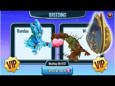 Monster Legends - VIP Event Use 50gems Breed Frostbite vs Nemestrinus Get Hydrok The Forgotten