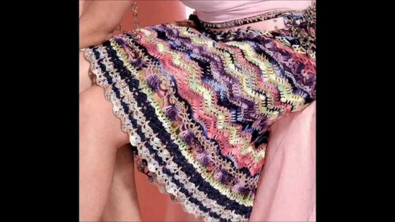 Knitting Skirts Free Patterns : How to crochet skirt free pattern youtube