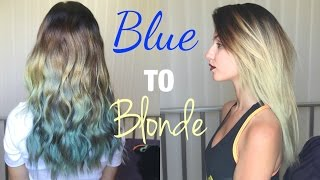 From Blue to Blonde | Removing Fashion colours | Stella