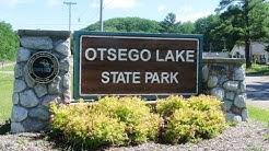 Camping at Otsego Lake State Park near Gaylord, Mi
