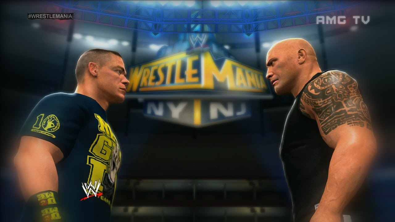 wwe 2k14 - the rock vs john cena | wrestlemania 29 promo - youtube