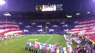 Lambeau Field - 2011 Packers vs. Saints - National Anthem and Flyover