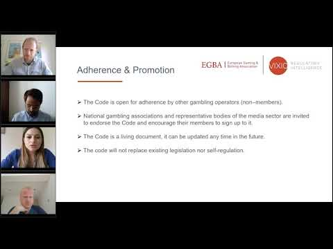 EGBA's Code of Conduct on Responsible Advertising for Online Gambling (Webinar Presentation)