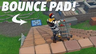 BOUNCE PAD au fond de BIG RAMP! (FORTNITE)