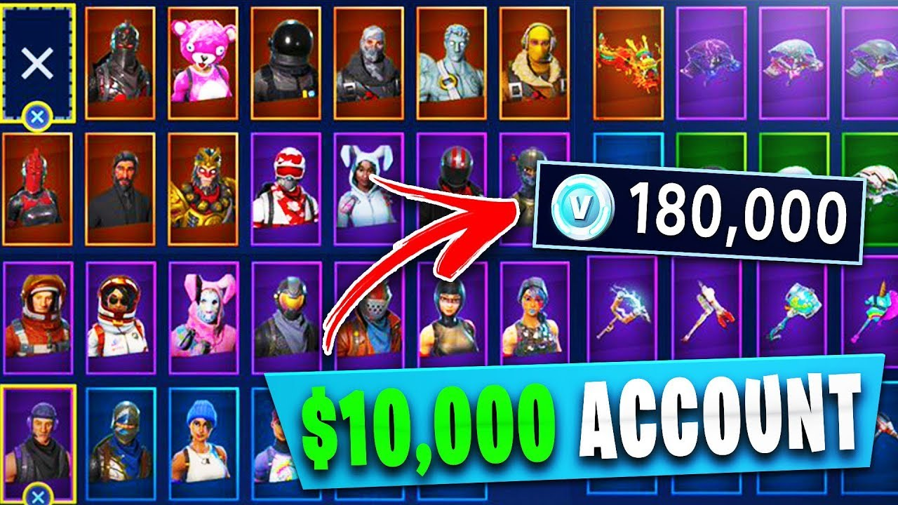 EVERY SKIN in FORTNITE! ALL OUTFITS, GLIDERS & PICKAXES ...