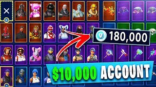 EVERY SKIN in FORTNITE! ALL OUTFITS, GLIDERS & PICKAXES! (Fortnite RAREST Skins)