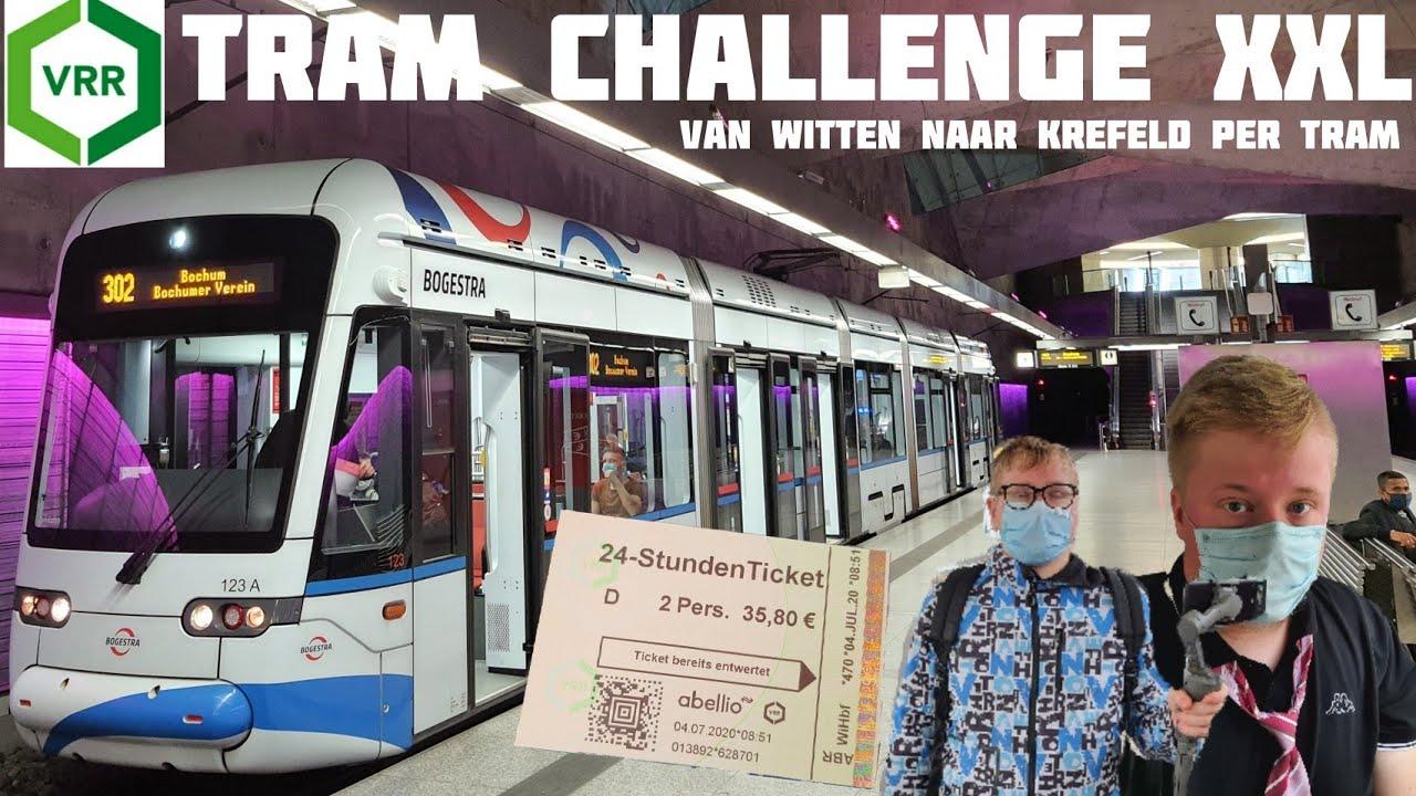 TRAM CHALLENGE in het RUHRGEBIED met SHOTJES! | langste tramrit ter wereld