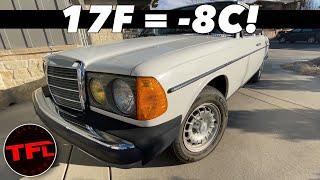 Will It Run!? Mercedes 300D Turbo Diesel Cold Start!