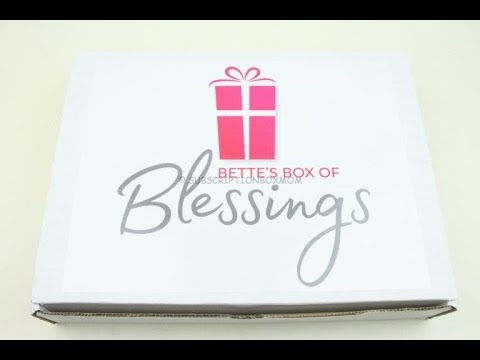 Bette's Box Of Blessings July 2019 Subscription Box Unboxing + Coupon