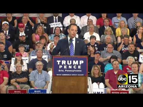 FULL SPEECH: Reince Priebus speaking at Donald Trump rally in ...