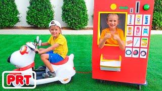 Vlad e Nikita história de brinquedos para crianças da máquina de venda automática 2