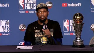 Kevin Durant Postgame Interview - Game 4 | Warriors vs Cavaliers | June 8, 2018 | 2018 NBA Finals