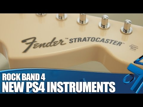 Rock Band 4: Exclusive look at the NEW PS4 Instruments!