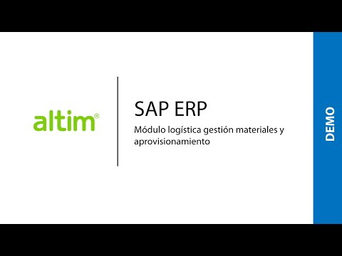 SAP ERP: Módulo logística gestión materiales y aprovisionamiento