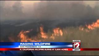 California wildfire threatens wine-country homes