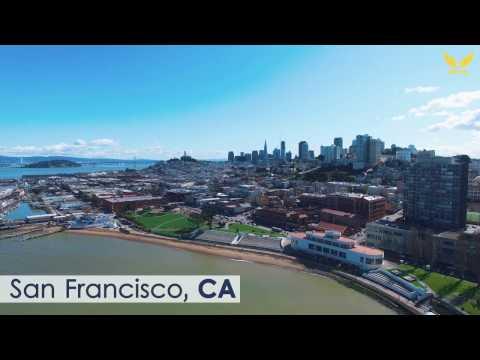 SAN FRANCISCO, California; USA 4K Aerial Video (UHD TV)