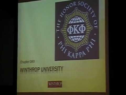 Winthrop University Phi Kappa Phi Initiation April 15, 2012