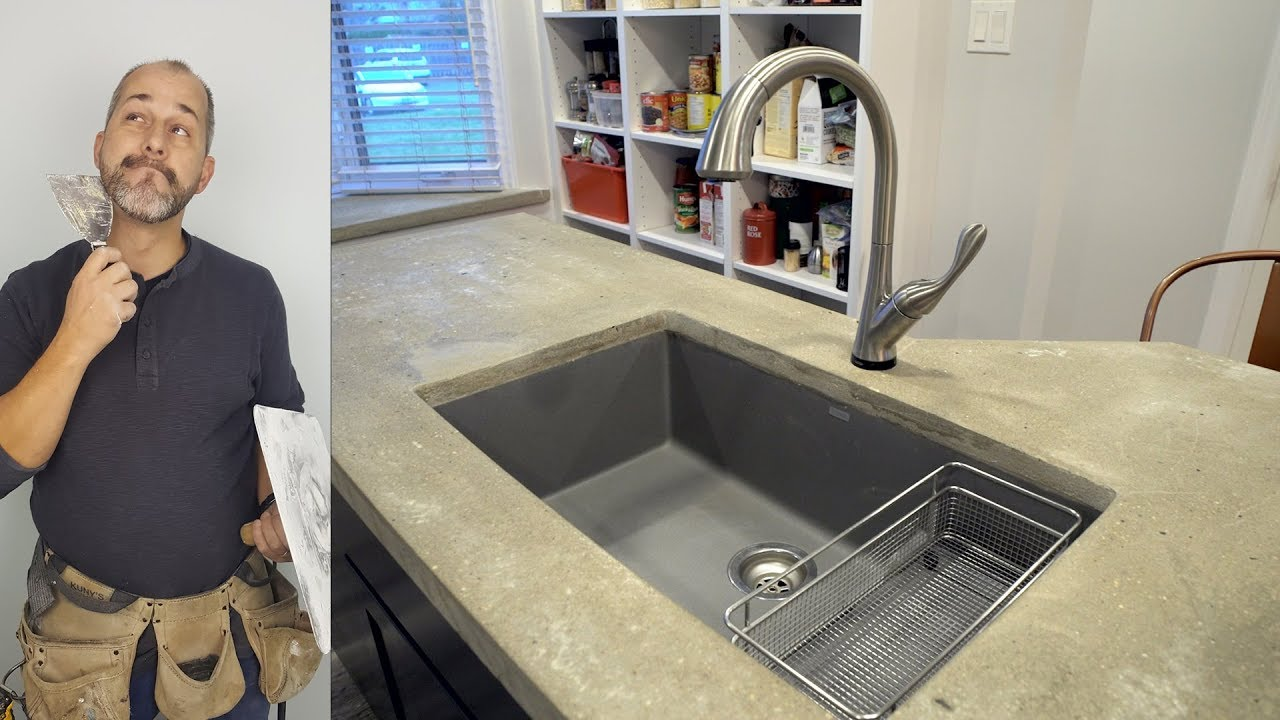 Rustic Diy Concrete Counter Tops From A To Z You
