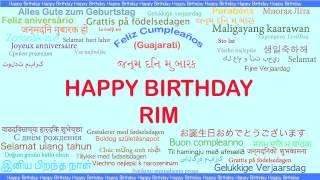 Rim   Languages Idiomas - Happy Birthday