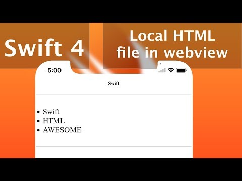 Load Local HTML In WebKit View(Swift 4 + Xcode 9.0)