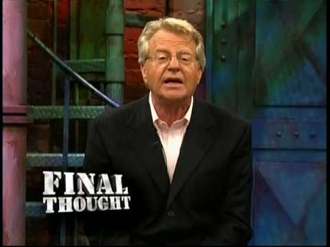 an introduction to the jerry springer show Larry king live did 'the jerry springer show' cause a murder aired august 24, 2000 - 9:00 pm et this is a rush transcript this copy may not be in its final form and may be updated.