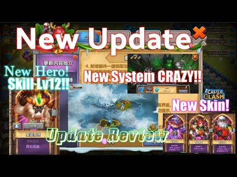 Insane New Update! Review! CRAZY New System & Hero - Castle Clash