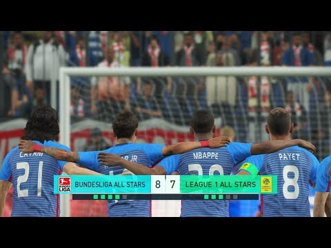 Bundesliga all stars vs league 1 all stars i pes 2018 penalty shootout