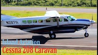 Cessna 208 Caravan departures @ St. Kitts Airport !!!