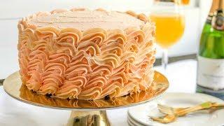 Buttercream Cake Decorating - Grapefruit Mimosa Cake