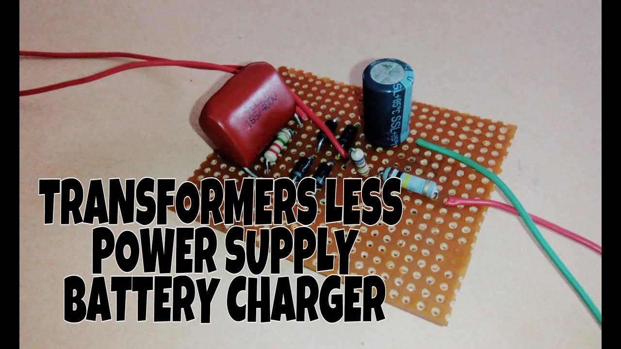 Transformerless Automatic Led Emergency Light Circuit Diagram Power Supply Homemade Projects