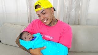 I'm Finally a DAD (MEET OUR NEW BABY)