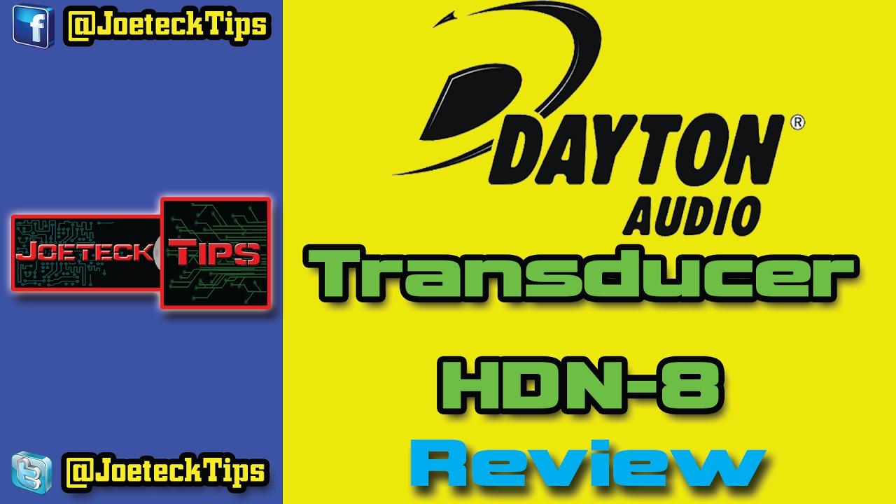 Dayton Audio Transducer Sound Exciter HDN-8 (300-387) - Review