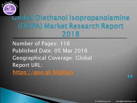Diethanol Isopropanolamine DEIPA Market Global Industry Growth, Size, Trends, Share, Opportunities
