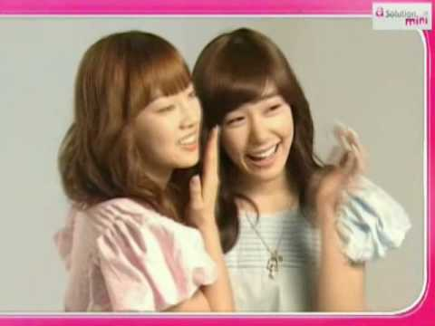 TaeYeon & Tiffany (SNSD) CF : a-solution Interview , Apr24.2009 GIRLS' GENERATION