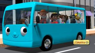 Wheels on the bus go round and round | Part 3|  Baby songs | Nursery rhymes | Kiddiestv