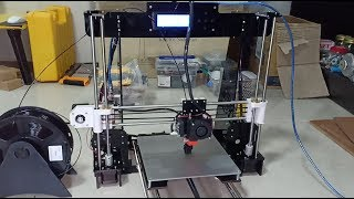 How to install 3d printing machine and print test