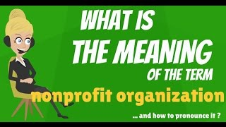 What is NONPROFIT ORGANIZATION? What does NONPROFIT ORGANIZATION mean?