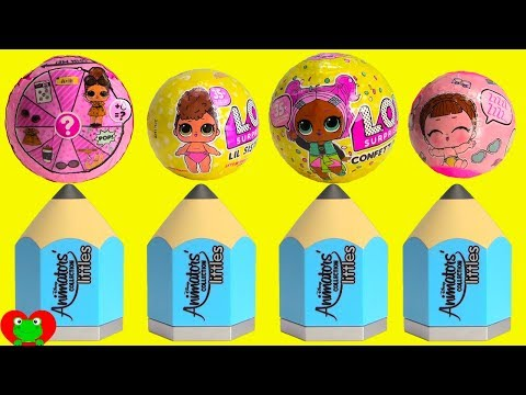 LOL Surprise Confetti Pop Lil Sisters and Disney Animation Littles