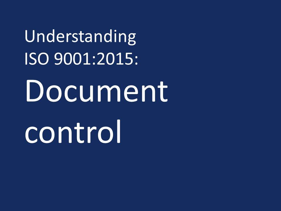 iso document control procedure pdf