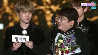 Bang Shi Hyuk won Producer of the Year 27th Seoul Music Awards 2018