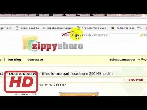 [Tech Tips]File Sharing Website । Create Download Link on Zippyshare ।  Online Cloud Storage