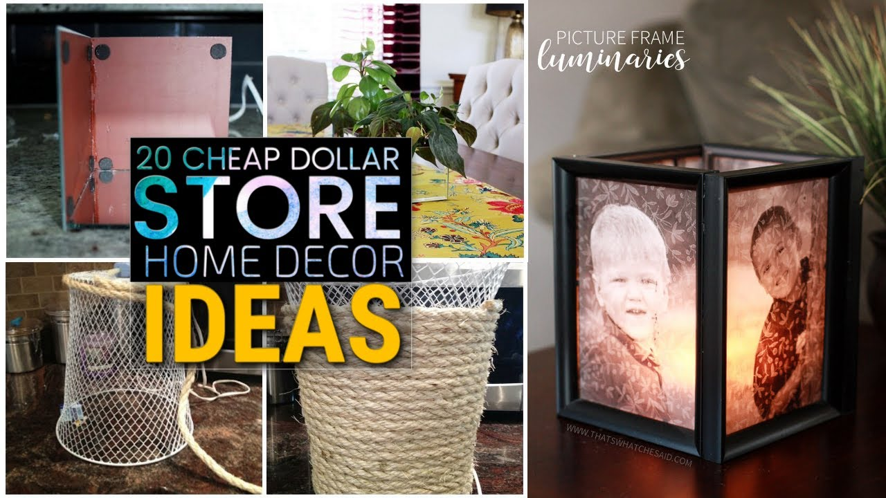20 Cheap Diy Dollar Store Decor Ideas Youtube